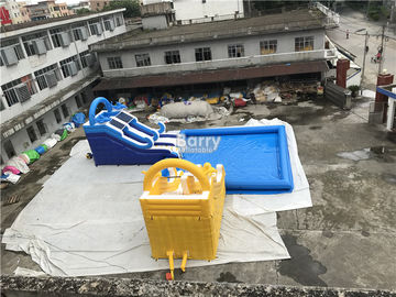 Customized Inflatable Water Park Slide With Pool / Kids Inflatable Playground supplier