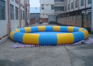 Portable Inflatable Round Swimming Pool , Deep Inflatable Backyard Swimming Pools supplier