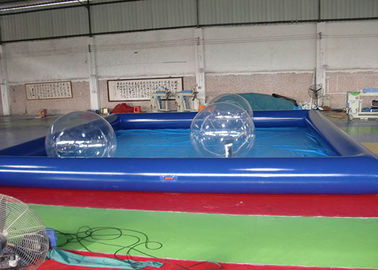 Inflatable Family Swimming Pool With Water Zorb Ball / Inflatable Water Pool supplier