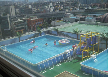 China Outdoor Square Metal Frame Pool , Metal Frame Swimming Pool For Rental supplier