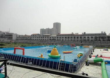 Big Water Park Rectangle Above Ground Metal Frame Paddling Pool 12 X 39