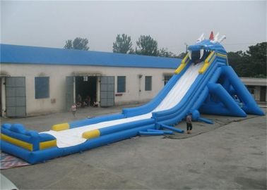 Outdoor Adult Giant Inflatable Water Slide , Massive Inflatable Slide For Amusement Park supplier
