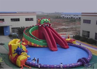 Funny Kids Inflatable Water Park , Inflatable Floating Water Park Playground supplier