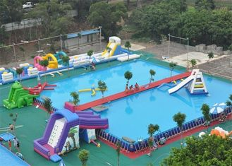 Safety Frame Adult Inflatable Amusement Park With Fire Resistant PVC supplier