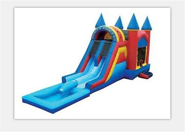 China Safety 0.55mm PVC Outdoor Inflatable Bouncy Castle Water Slide For Kids supplier