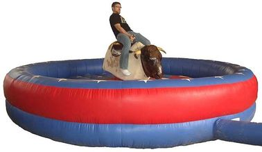 China Adult Playing Inflatable Mechanical Bull , Tarpaulin Mechanical Rodeo Bull for 1 Person supplier