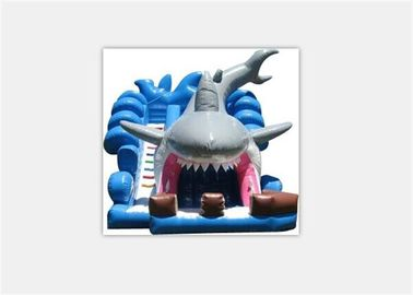 Durable Logo Printing Animal Design Inflatable Shark Water Slide For Kids supplier