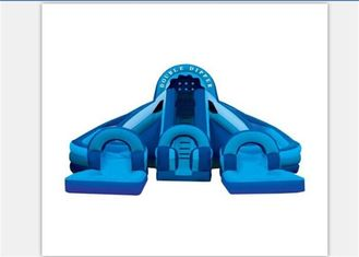 Huge Durable Long Inflatable Water Slides With Double Dipper EN71 supplier