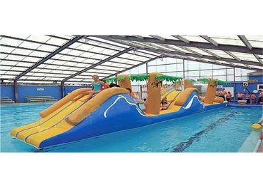 Waterproof Commercial Kids Inflatable Floating Obstacle Course Bouncer supplier