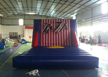 China Exciting Inflatable Interactive Games , Commercial Grade Inflatable Sticky Wall supplier