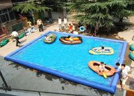 China Outdoor Children Inflatable Swimming Pool Large Rectangle Blow Up Swimming Pools factory
