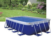 China Blue PVC Steel Frame Metal Frame Pool , Easy Set Up Swimming Pool With Accessories factory