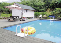 China Villa Residence Rectangular Metal Frame Pool With PVC Tarpaulin 5*30m factory