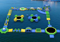 China Waterproof Tarpaulin Inflatable Floating Water Park Equipment For Rental / Festival Activity factory