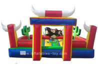 China Commercial Inflatable Sports Games Riding Machine Inflatable Mechanical Bull For Park factory