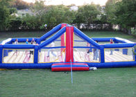 China Amusement Park Inflatable Sports Games 0.9mm Bounce House Volleyball Court factory
