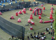 China Paintball Equipment Gun Paintball Obstacles , Custom Size Comercial Campo De Paintball inflable factory