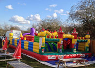 China CE Outdoor Inflatable Bouncy Castle With Slide , Commercial Adult Bouncy Castle company