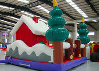 China Merry Christmas New Inflatable Santa Claus Bouncer House For Kids Playground factory