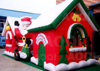 China Cuatomized Merry Christmas Inflatable Santa Claus Bouncy Castle For Xmas Decoration factory