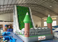 China Jungle Green Kids Inflatable Climbing Wall For Amusement Inflatable Play Equipment factory