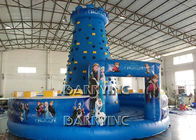 China Blue Kids Frozen Inflatable Climbing Wall Type PVC Material Inflatable Sports Arena factory