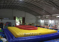 China Vinyl Material Castle Type Inflatable Football Court Bossaball For Children / Adult factory