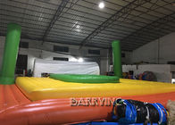 China Spain Commercial Grade PVC Inflatable Beach Volleyball Bossaball Court For Bench factory