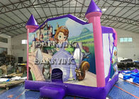 China Pink Castle Princess Inflatable Bouncer Slide Combo With 18 OZ Vinyl PVC Material company