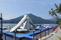 China Giant Aquaglide Inflatable Water Park , Inflatable Water Assault Course With EN15649 factory