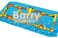 China Water Games Inflatable Floating Obstacle Course With 0.9mm Plato PVC Tarpaulin factory