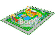 China 0.55mm PVC Material Giant inflatable water park projects , amusement park design factory