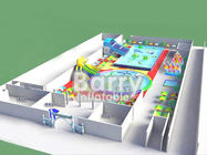 China Pool slide inflatable water park  , funny inflatable park designed for kids factory