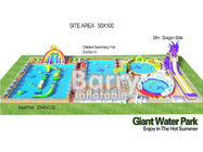 China 3D Inflatable Backyard Water Park Construction Giant 0.55mm PVC Tarpaulin factory