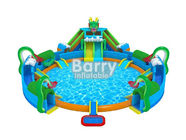 China 30 * 20 M Hawaii Themed Mini Inflatable Water Park With Big Swimming Pool factory