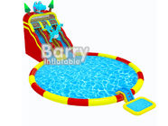 China Customized Amusement Park Toys Jurassic Inflatable Sea Water Park With Full Printing factory