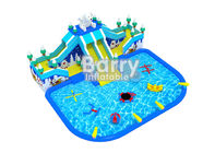 China Bear Slide Inflatable Water Park Air Kids Inflatable Playground With Water Toys factory