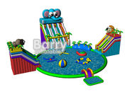 China Summer kids play park games , elephant inflatable water park with CE,EN14960 factory