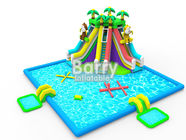 China Kids inflatable water park equipment , OEM/ODM jungle inflatable water slide pool park factory