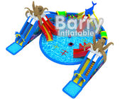 China Giant Octopus Water Amusement Park , Portable Blow Up Water Park With Floating Toys factory