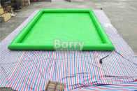 China Green Customized Large Square Inflatable Swimming Pool PVC Tarpaulin Material factory