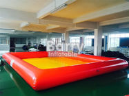 China Orange / Yellow Pvc Floating Inflatable Boat Swimming Kids Portable Swimming Pools company