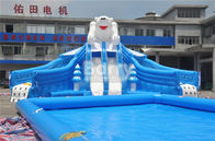 China Outdoor Bear Giant Inflatable Water Park With EN14960 0.55mm PVC Tarpaulin Material factory