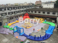 China Giant 22 * 25m Adult Amazing Inflatable Water Park With Air Blower / Repair Material factory