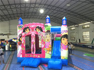 China Pink Princess Large Dora Inflatable Bounce House Commercial With Digital Printing company