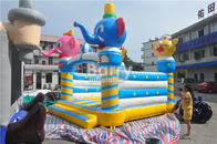 China Commercial Inflatable Bouncers Animal Elephant Space Moonwalk For Home / Playground factory
