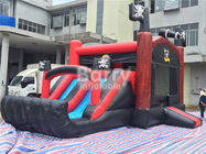 China Pirate Ship Bounce Round Inflatable Combo Slide , Inflatable Bouncers For Kids Party factory