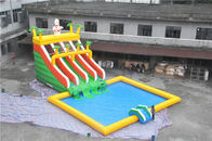 China Durable Big Superman Air Inflatable Aqua Park With Slide For Amusement factory