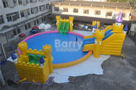 China Commercial Castle Slide / Giant Inflatable Water Park Amusement For Kids factory
