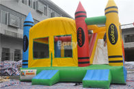 China PVC Tarpaulin Inflatable Combo , 5x4x3.6m Kids Inflatable Bounce House With Slide factory